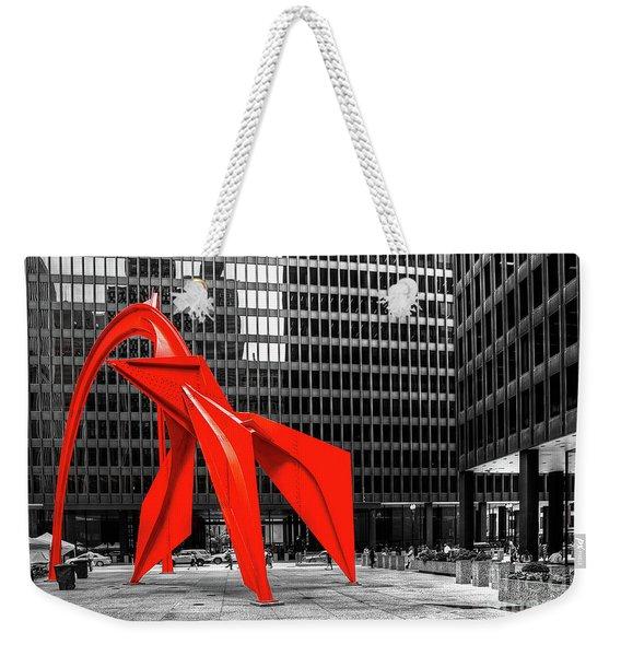 1371 The Flamingo Weekender Tote Bag