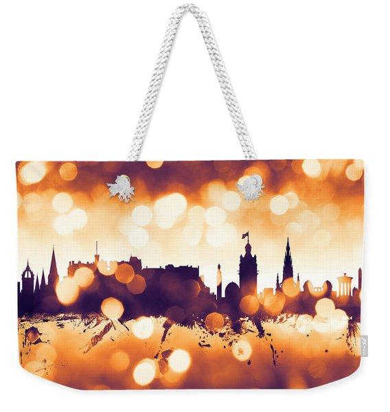 Edinburgh Scotland Skyline Weekender Tote Bag