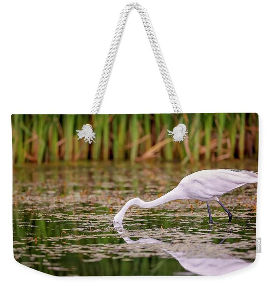 White, Great Egret Weekender Tote Bag