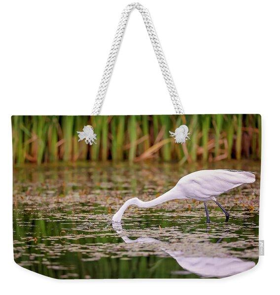 White, Great Egret Weekender Tote Bag