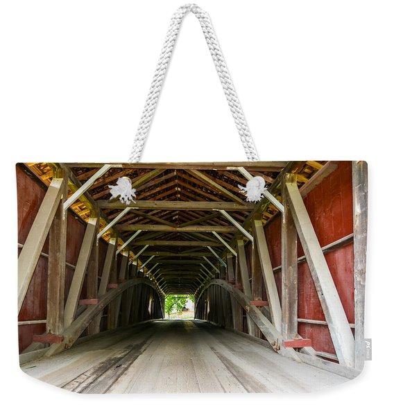 143 Feet Of Covered Bridge Weekender Tote Bag