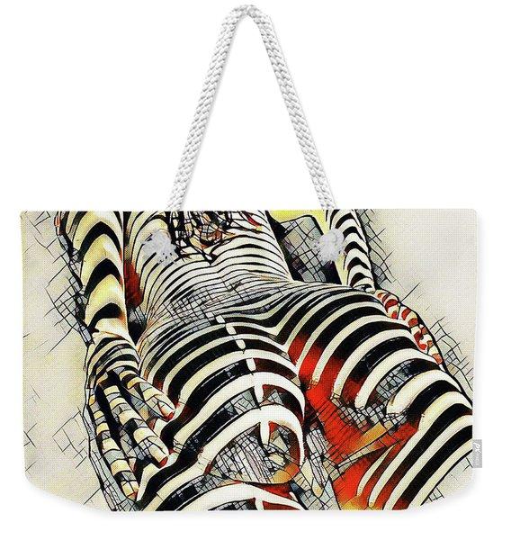 1457s-ak Rear View Nude Erotica In The Style Of Kandinsky Weekender Tote Bag