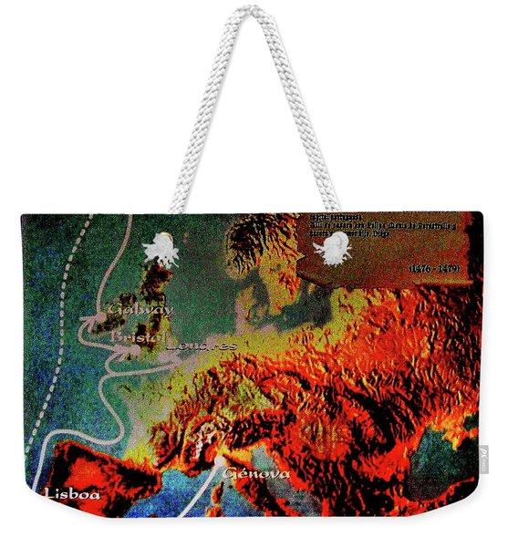 1478 Even Columbus Sailed Along The Wild Atlantic Way. Weekender Tote Bag