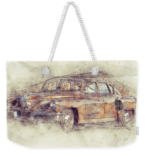148 Tucker Torpedo - Tucker Sedan - Tucker 48 - 1948 - Automotive Art - Car Posters Weekender Tote Bag