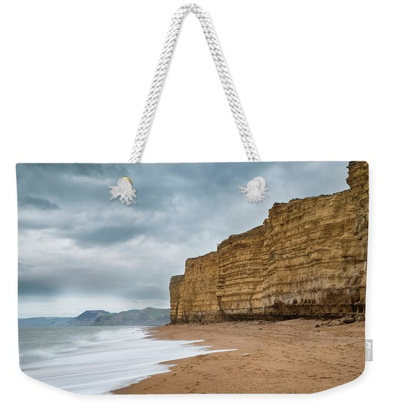 Beautiful Vibrant Sunset Landscape Image Of Burton Bradstock Gol Weekender Tote Bag
