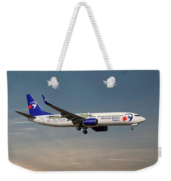 Travel Service Boeing 737-8cx Weekender Tote Bag