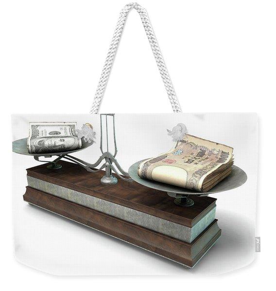 Balance Scale Comparison Weekender Tote Bag
