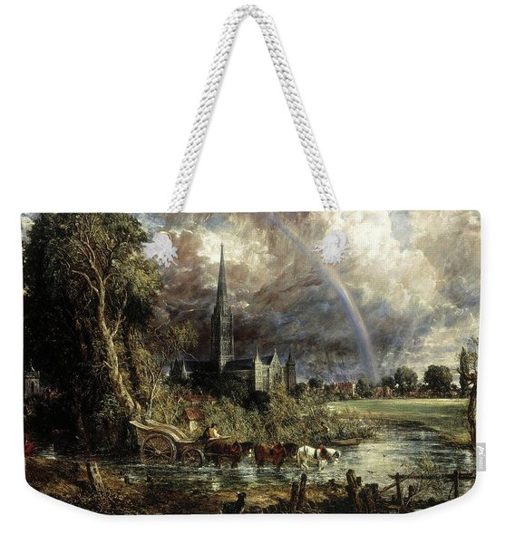 Salisbury Cathedral From The Meadows Weekender Tote Bag