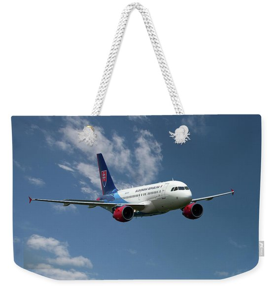 Slovak Government Flying Service Airbus A319-115 Weekender Tote Bag