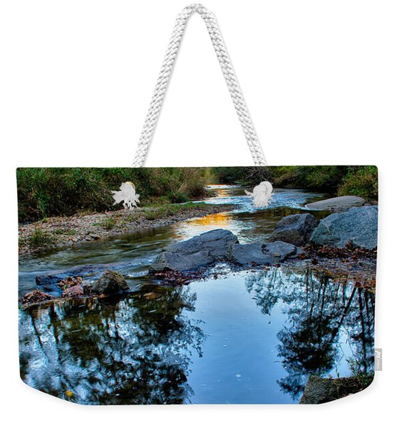 Stone Mountain North Carolina Scenery During Autumn Season Weekender Tote Bag