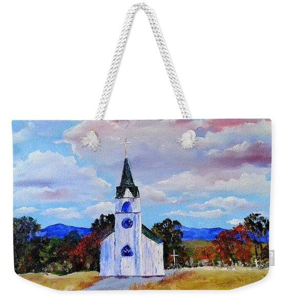 #17 St. Johns Historic Church On Hwy 69 Weekender Tote Bag