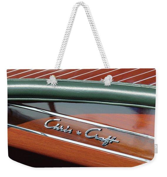 Classic Chris Craft Weekender Tote Bag