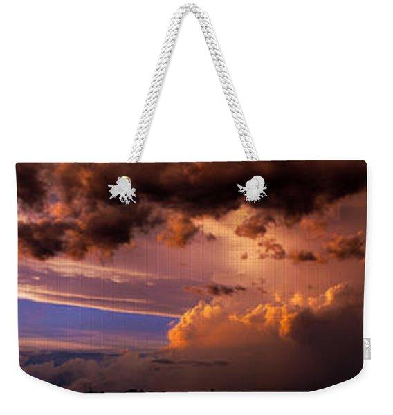 Weekender Tote Bag featuring the photograph Nebraska Hp Supercell Sunset by NebraskaSC