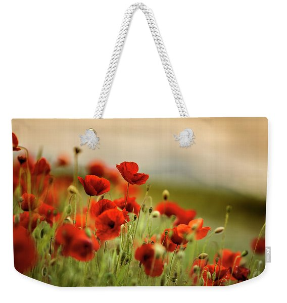 Summer Poppy Meadow Weekender Tote Bag