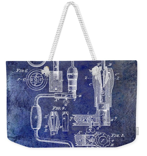 1883 Drill Patent Blue Weekender Tote Bag
