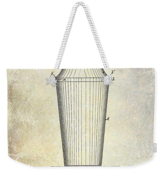 1884 Drink Shaker Patent Weekender Tote Bag