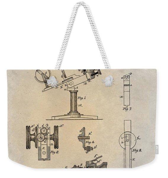 1886 Microscope Patent Art Fasoldt 1 Weekender Tote Bag