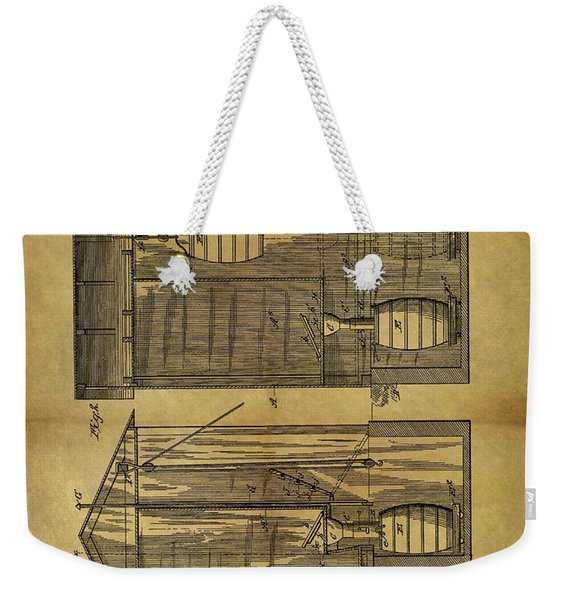 1886 Outhouse Patent Weekender Tote Bag