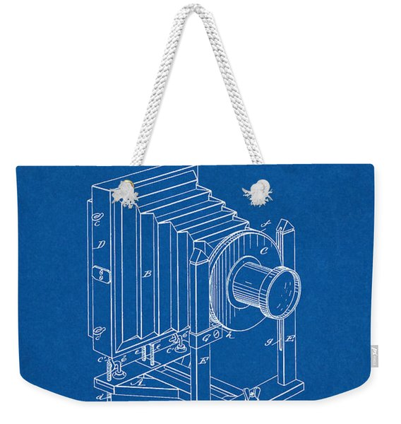 1888 Camera Us Patent Invention Drawing - Blueprint Weekender Tote Bag