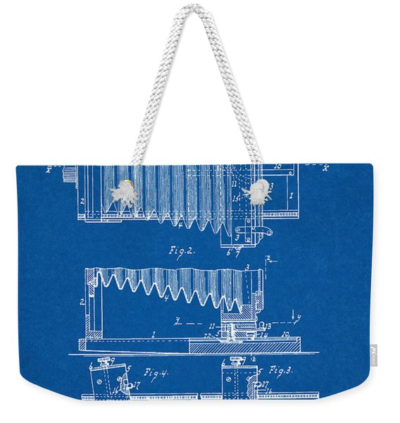 1897 Camera Us Patent Invention Drawing - Blueprint Weekender Tote Bag