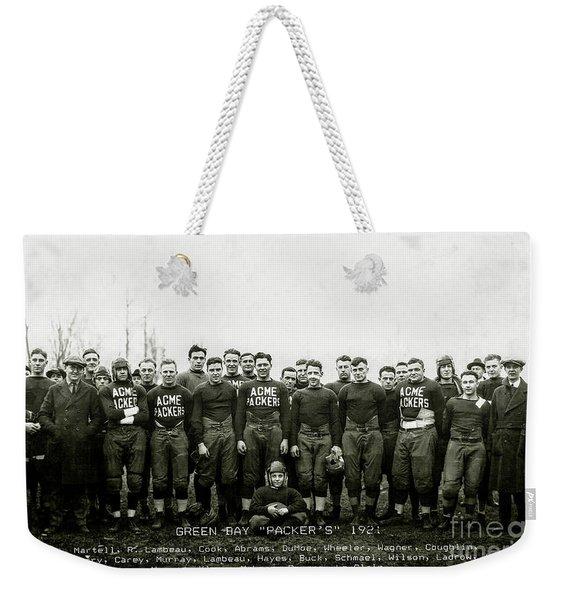 1921 Green Bay Packers Team Weekender Tote Bag