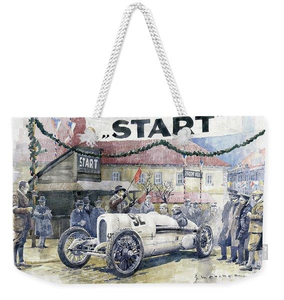 1924 Zbraslav-jiloviste Regularity Ride To The Top Start Walter W-0 Weekender Tote Bag