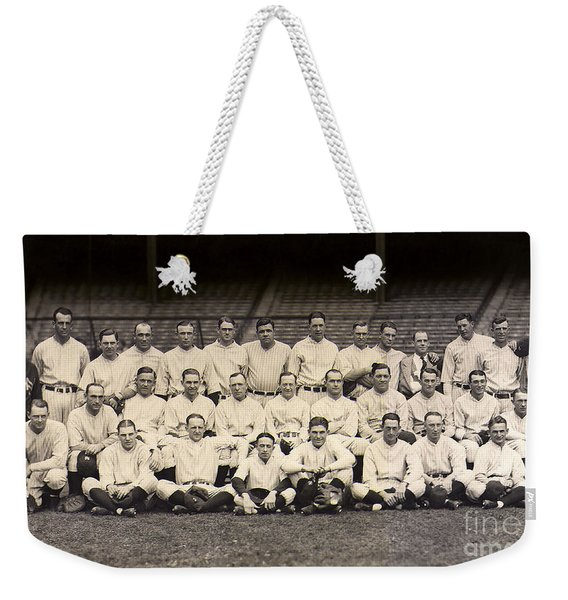 1926 Yankees Team Photo Weekender Tote Bag
