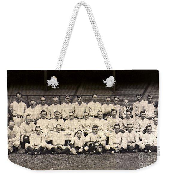 1926 Yankees Team Photo Weekender Tote Bag