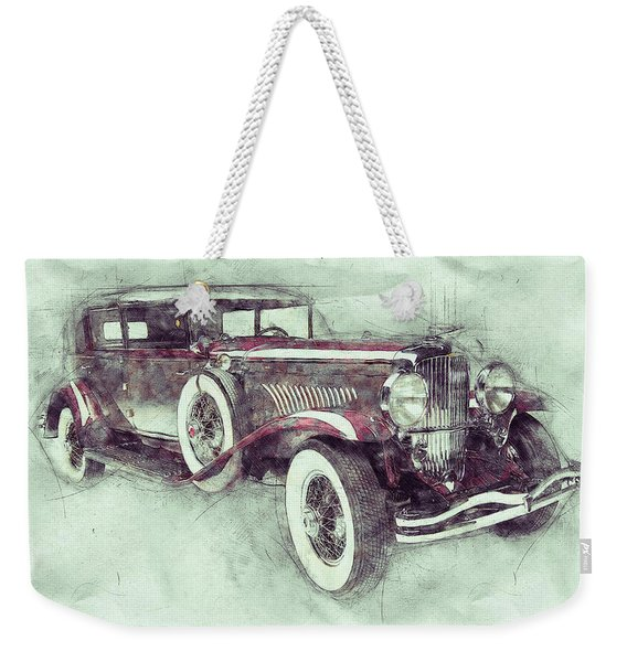 1928 Duesenberg Model J 1 - Automotive Art - Car Posters Weekender Tote Bag
