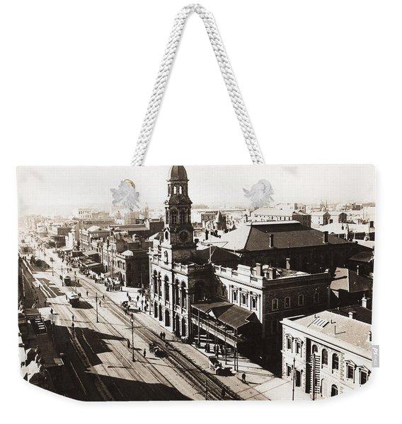 1928 Vintage Adelaide City Landscape Weekender Tote Bag