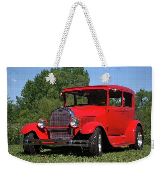 1929 Ford Sedan Hot Rod Weekender Tote Bag