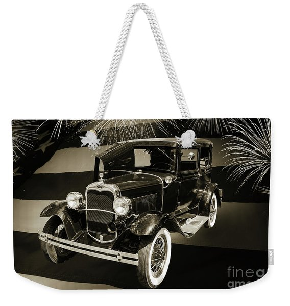 1930 Ford Model A Original Sedan 5538,16 Weekender Tote Bag