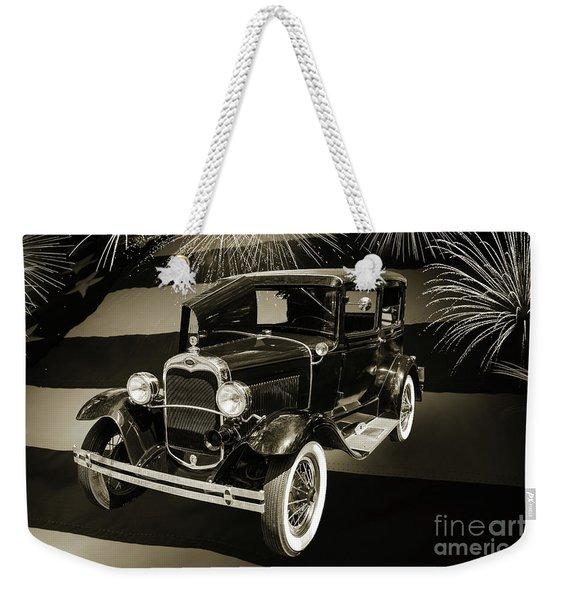 1930 Ford Model A Original Sedan 5538,16 Weekender Tote Bag