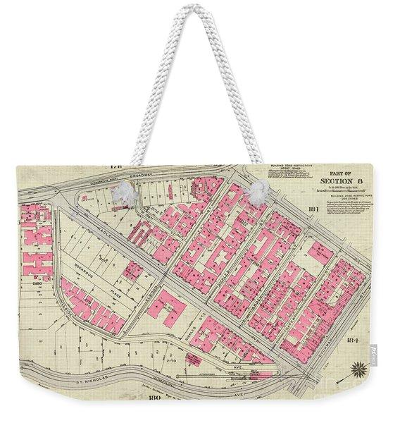 1930 Inwood Map  Weekender Tote Bag