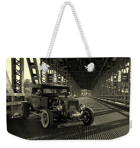 1931 Nash Coupe Rat Rod Weekender Tote Bag