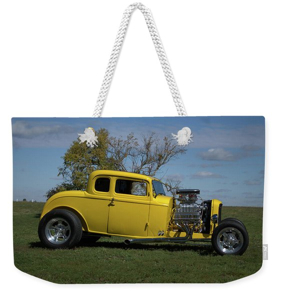 1932 Ford 5 Window Coupe Hot Rod Weekender Tote Bag