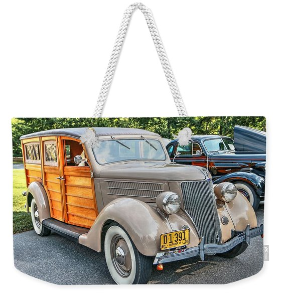 1936 Ford V8 Woody Station Wagon Weekender Tote Bag