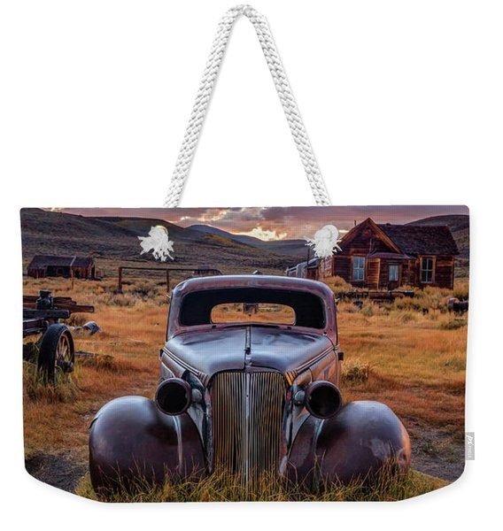 1937 Chevy At Sunset Weekender Tote Bag