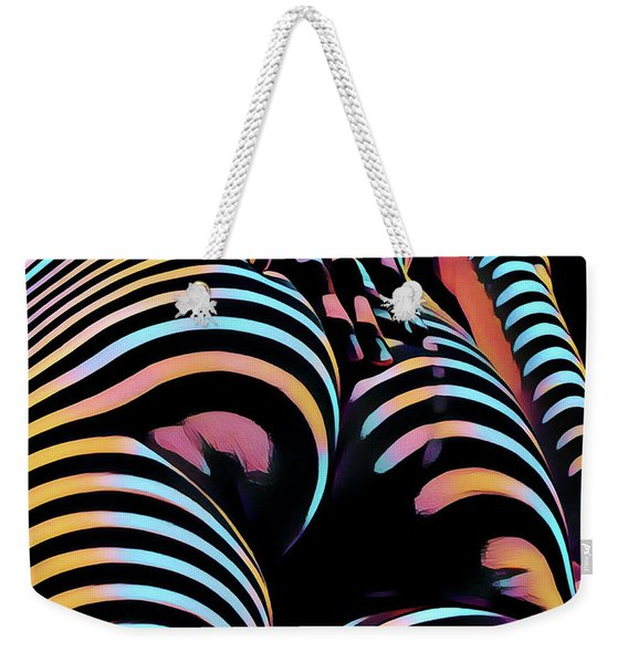 1937s-ak Sliding Her Hand Down Her Naked Back Rendered In Composition Style Weekender Tote Bag