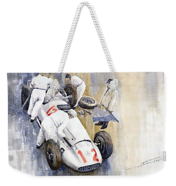 1939 German Gp Mb W154 Rudolf Caracciola Winner Weekender Tote Bag