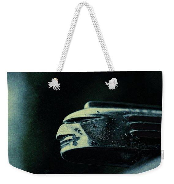 1939 Pontiac Silver Streak Hood Ornament Weekender Tote Bag