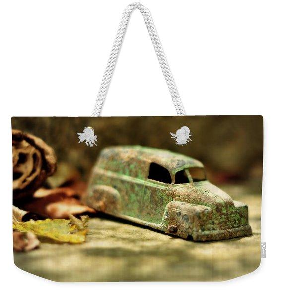 1940s Green Chevy Sedan Style Toy Car Weekender Tote Bag