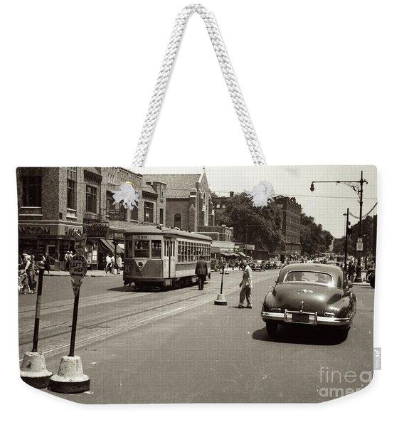 1940's Inwood Trolley Weekender Tote Bag
