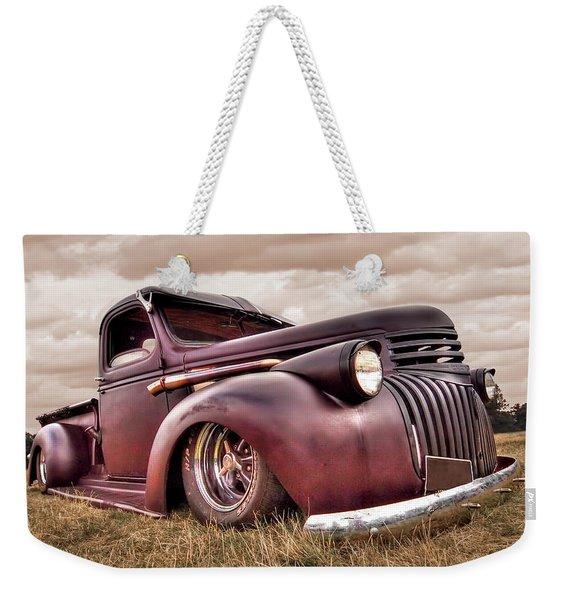 1941 Rusty Chevrolet Weekender Tote Bag