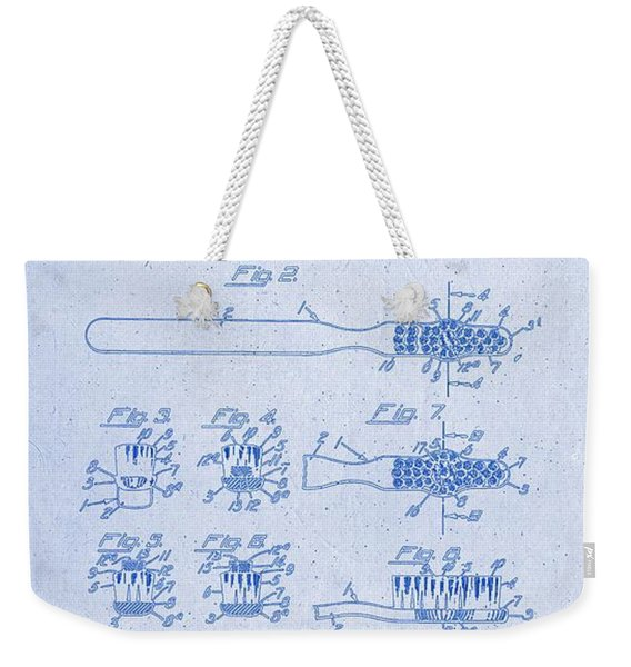 1941 Toothbrush Patent Artwork Blueprint 3 Weekender Tote Bag