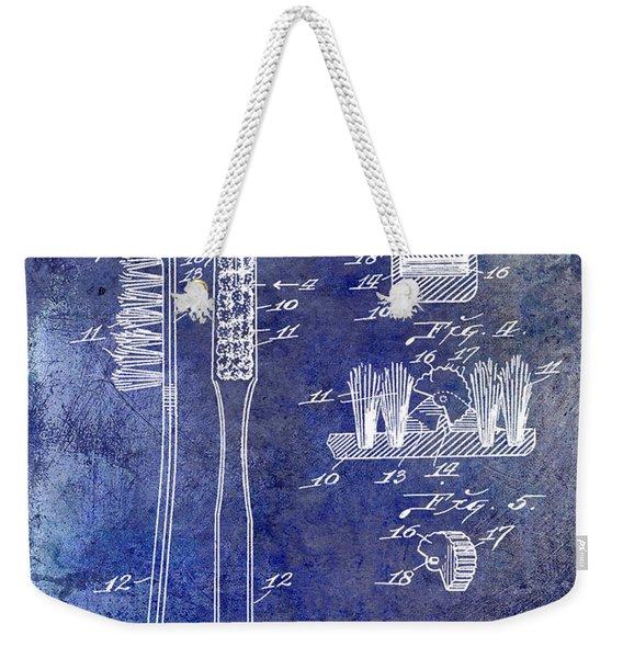 1941 Toothbrush Patent Blue Weekender Tote Bag