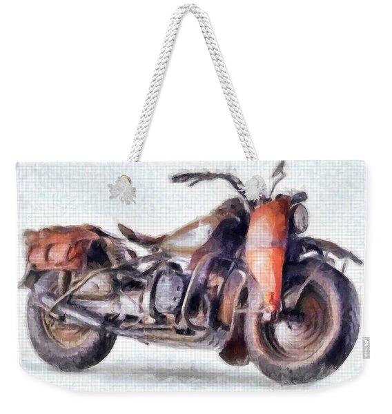 1942 Harley Davidson, Military, 750cc Weekender Tote Bag