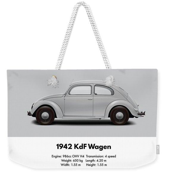 1942 Kdf Sedan - Grey Weekender Tote Bag