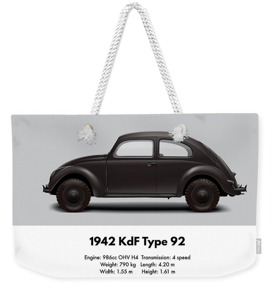 1942 Kdf Type 92 - Black Weekender Tote Bag