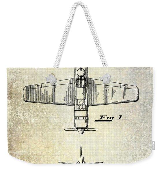 1946 Airplane Patent Weekender Tote Bag